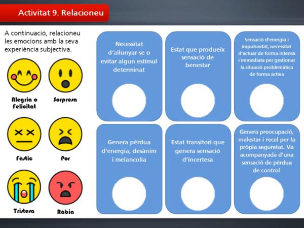 Atenció a la diversitat amb educació emocional. Activitat d'exemple